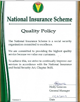 Benefits Payable At N I S National Insurance Scheme